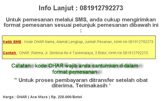 Pemesanan OHAR (AceMaxs)